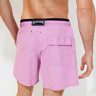 男款 Classic 纯色 - Men Swimwear Bicolor Solid, Pink berries supp6