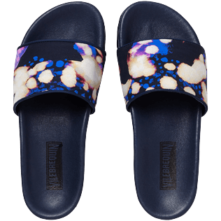 Women Others Solid - Women Beach Sandals Watercolor W's Slide, Navy front