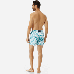 Men Embroidered Embroidered - Men Swimtrunks Embroidered Vague Heritage - Limited Edition, White backworn