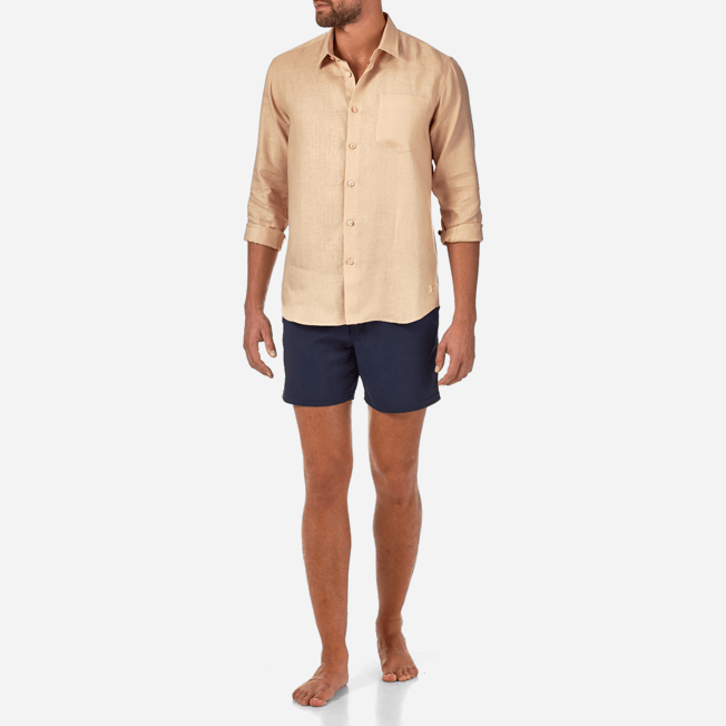 Vilebrequin - Men Linen Shirt Solid - 3
