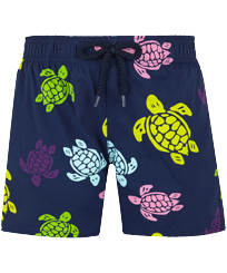Boys Others Printed - Boys Swimwear Stretch Ronde des tortues, Navy front
