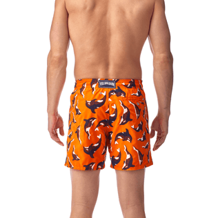 Men Classic / Moorea Embroidered - Galak Embroidered Swim shorts, Papaya supp3