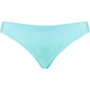 Women Bottoms Solid - Women High cut Bikini Bottom Solid Water, Lagoon front