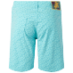 Men Others Printed - Men Cotton Bermuda Shorts Micro Ronde Des tortues, Lagoon back