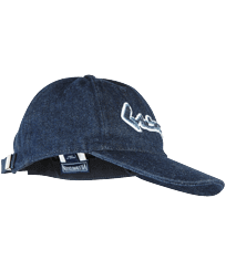 Men Others Solid - Men Denim Baseball Cap Vintage Vilebrequin Logo, Medium denim w5 front
