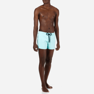 Men Short classic Solid - Men Short and Fitted Stretch Swimwear Solid, Lagoon frontworn
