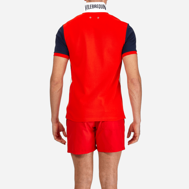 Vilebrequin - Polo en Piqué de Coton Homme Multicolore - 6