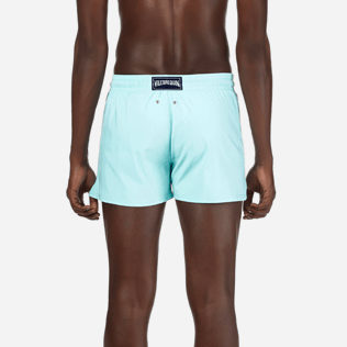 Men Short classic Solid - Men Short and Fitted Stretch Swimwear Solid, Lagoon supp2