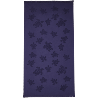Altri Unita - Fouta in spugna Turtles Jacquard, Midnight blue front