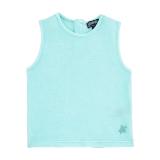 Girls Tee-Shirts Solid - Girls Tank Top in Terry Cloth Solid, Lagoon front