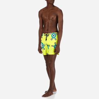 Men Classic / Moorea Printed - Men Swimwear Mosaic Turtles, Chartreuse frontworn