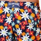 Men Long classic Printed - Men Swim Trunks Long 1977 Spring Flowers, Navy supp2