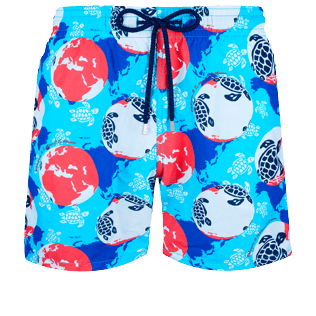 Men Classic Printed - Men Swimwear Mappemonde Dots 360 printed, Light azure front
