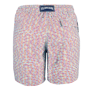 Men Classic Printed - Men Swimtrunks Modernist Fish, Lagoon back