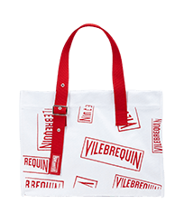 Others Printed - Large Beach Bag (Vilebrequin)RED, White front