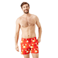 Men Stretch classic Printed - Men Swim Trunks Stretch St Valentin 2020, Medicis red frontworn