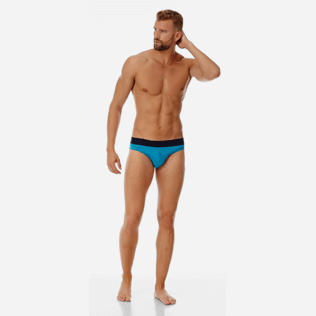 Men Swim brief and Boxer Solid - Men Swim Brief elastic belt solid, Seychelles frontworn