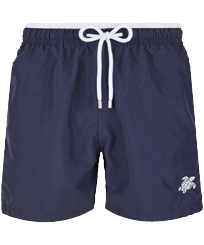 Men Classic Solid - Men Swim Trunks Bicolor Solid, Navy front