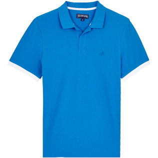 Men Others Solid - Men Cotton Polo Shirt Solid, Atoll front