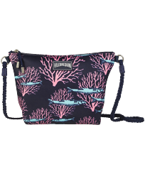 Others Printed - Beach Shoulder Bag Coral & Fish, Navy front