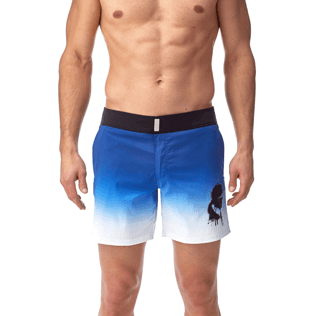 Men Fitted Printed - Karl Lagerfeld Fitted cut Swim shorts, Ocean supp2