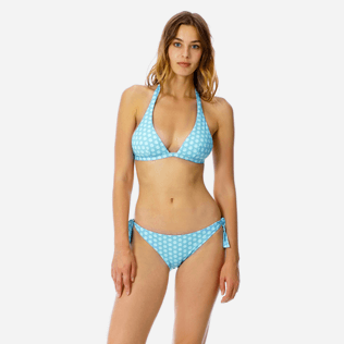 Women Classic brief Printed - Women brief to be tied bikini Bottom Ancre De Chine, Mint frontworn