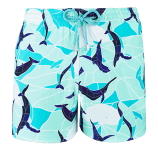 Homme CLASSIQUE STRETCH Imprimé - Maillot de bain Homme Stretch Magic Whales, Lagon front