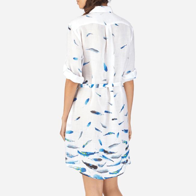 Vilebrequin - Robe chemise liquette longue Blue Breath - 6