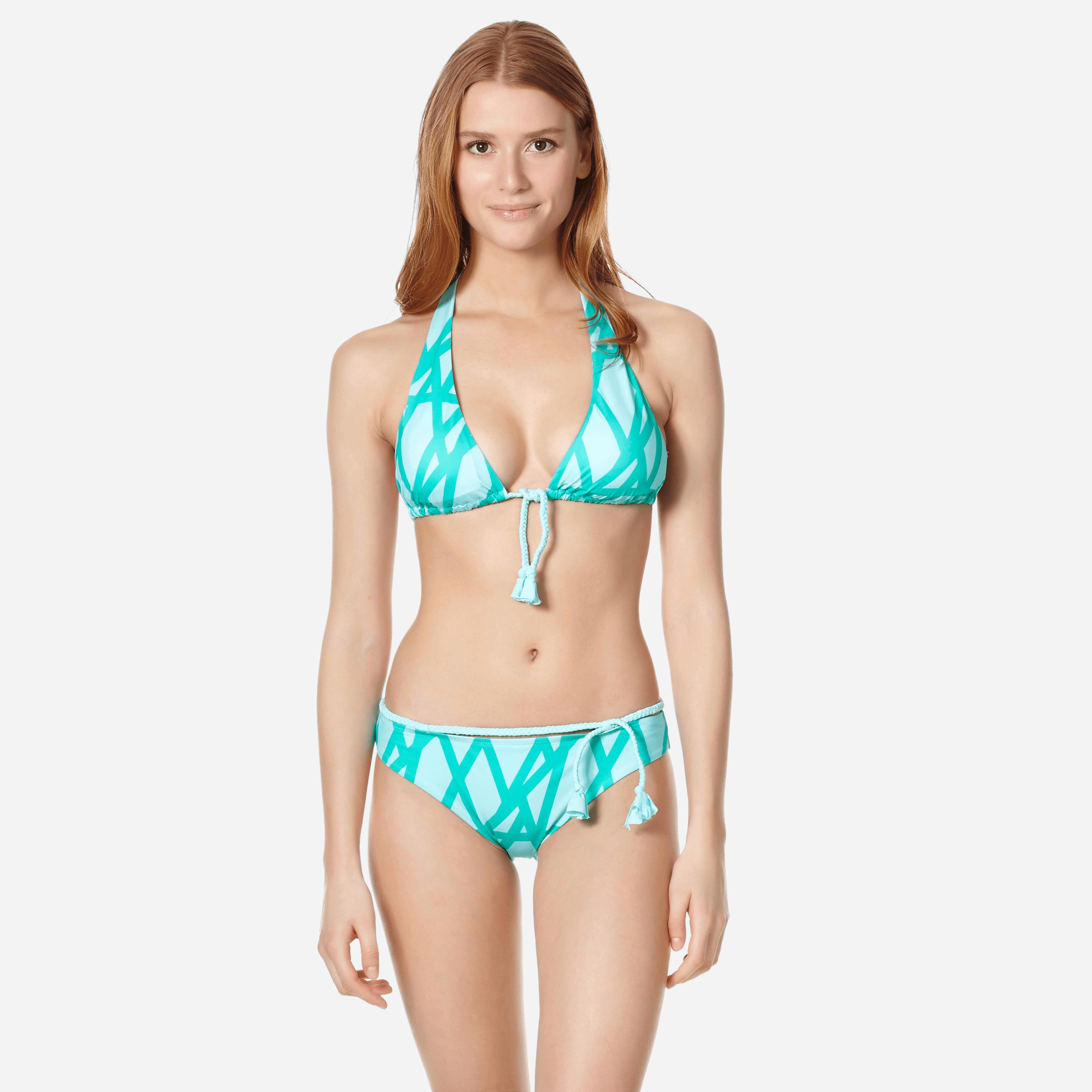 VILEBREQUIN | Women Swimwear - Women Bikini Halter Top Ribbon Bicolor - SWIMMING TRUNK - LAURYN - Green - XXS - Vilebrequin | Goxip