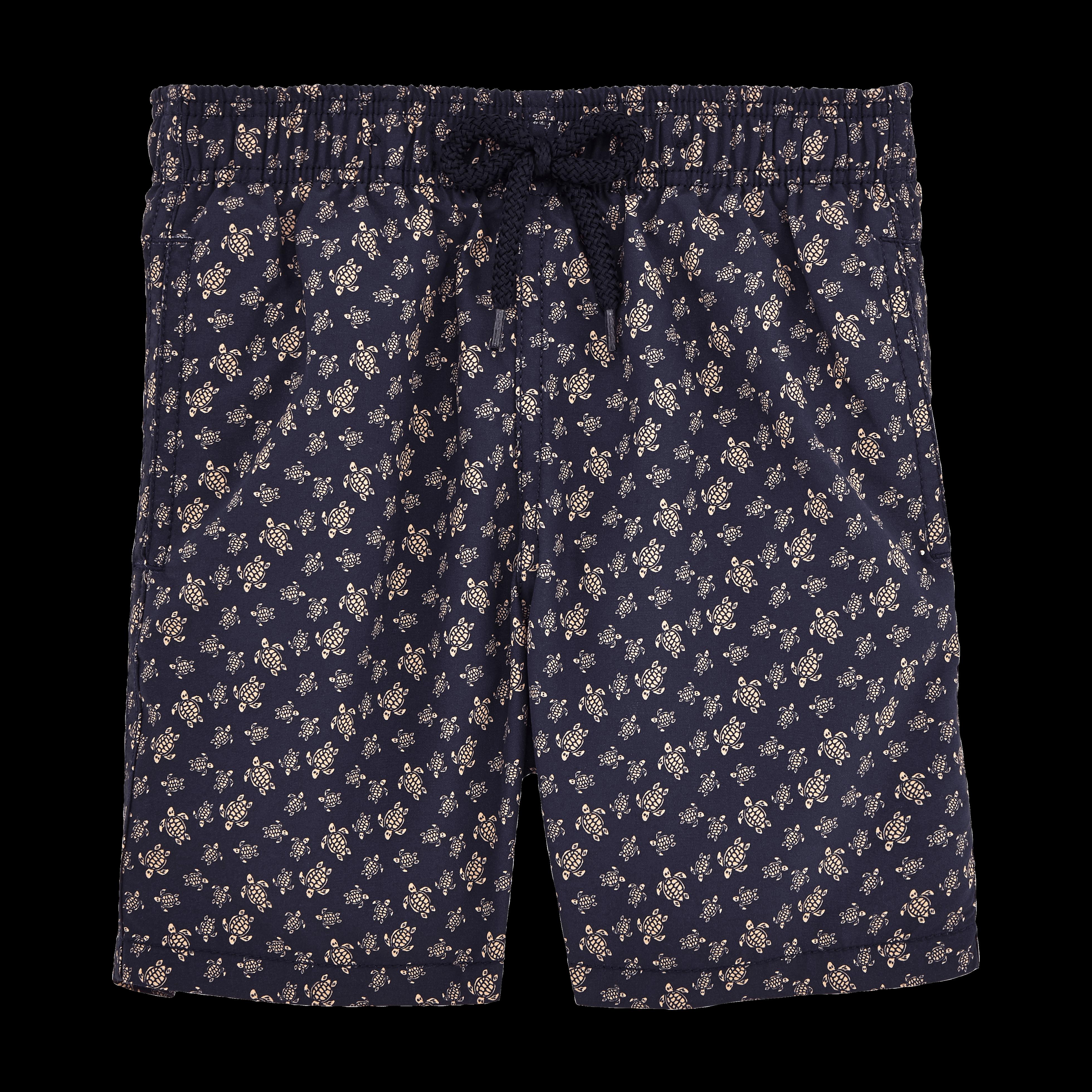 VILEBREQUIN | Boys Swimwear - Micro Ronde des Tortues Swim Shorts - SWIMMING TRUNK - JAM - Blue - 14 - Vilebrequin | Goxip