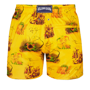 Men Ultra-light classique Printed - Men Ultra-Light and packable swimtrunks Joker Queen, Christophine back