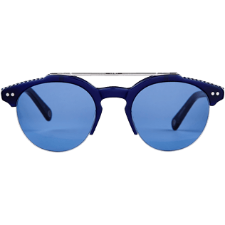 Sunglasses Solid - Unisex Sunglasses Blue Mono, Navy front