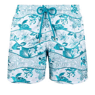 Men Embroidered Embroidered - Men Swimtrunks Embroidered Vague Heritage - Limited Edition, White front