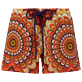Women Others Printed - Women Swim Short 1975 Rosaces, Apricot front