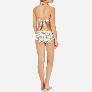 Women Classic brief Printed - Women Covering Bikini Bottom Bamboo Song, Peony backworn