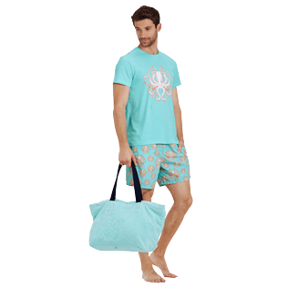Men Others Printed - Men Cotton T-Shirt Octopussy, Lagoon supp2