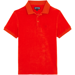 Men Others Solid - Men Terry Cloth Polo Shirt Solid, Medlar front