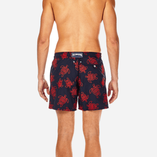 Men Embroidered Embroidered - Vilebrequin Turtles All Over Embroidered Swim shorts, Navy supp2