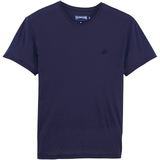 Men Others Solid - Men Mercerized Cotton T-shirt Solid, Navy front