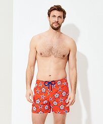 Men Stretch classic Printed - Men Swimwear Stretch Starfish Dance, Medlar frontworn