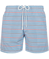 Men 112 Graphic - Men Swim Trunks Vintage 1971 Rayures Seersucker, Sky blue front