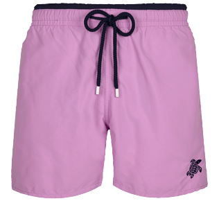 男款 Classic 纯色 - Men Swimwear Bicolor Solid, Pink berries front