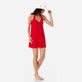 Women Others Solid - Women Terry cloth Halter Dress Solid, Red polish supp2