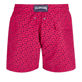 Men Classic Printed - Men Swim Trunks Micro ronde des tortues, Gooseberry red back