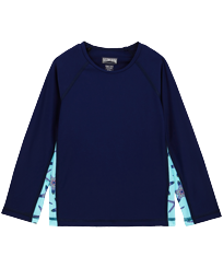 Others Printed - Unisex long sleeves Rashguard Starfish Dance, Batik blue front