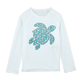 Others Printed - Unisex Kidss Long Sleeves Rashguards Solid, White front
