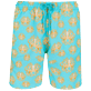 Men Long classic Printed - Men Swimwear Long Poulpes, Lagoon front