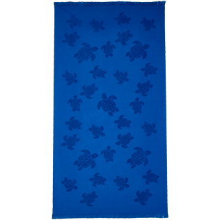 Others Solid - Beach Towel Fouta Jacquard Tortues, Royal blue front