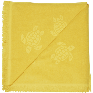 Others Solid - Beach Towel Fouta Jacquard Tortues, Curry back