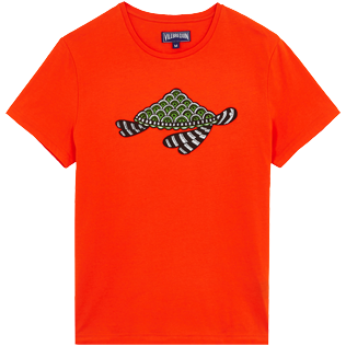 Men Others Printed - Men Cotton T-Shirt Turtles Swim, Medlar front